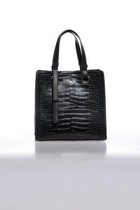 Sergio Giorgianni Luxury Mpysmn9145 Kroko Siyah Kadın Omuz Çantası