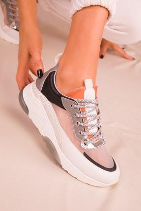SOHO Beyaz-Buz Kadın Sneaker 16219