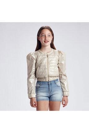 Mayoral Kız Çocuk Bej Kısa Yazlık Ceket Rüzgarlık