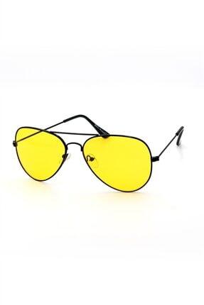 Silvio Monetti Unisex Sarı İnce Güneş Gözlüğü3sm59022r001 Uv400