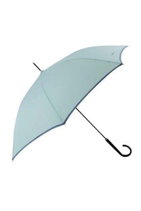 Pierre Cardin Rüzgara Dayanıklı Su Yeşili Baston Kadın Şemsiye
