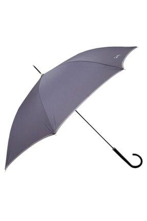 Pierre Cardin Rüzgara Dayanıklı Antrasit Baston Kadın Şemsiye