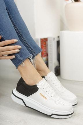 Chekich Ch075 Kadın Ayakkabı Beyaz Siyah